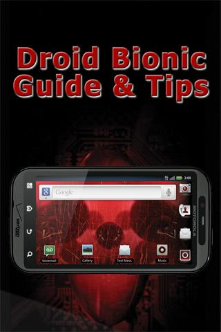 Droid Bionic Guide Tips