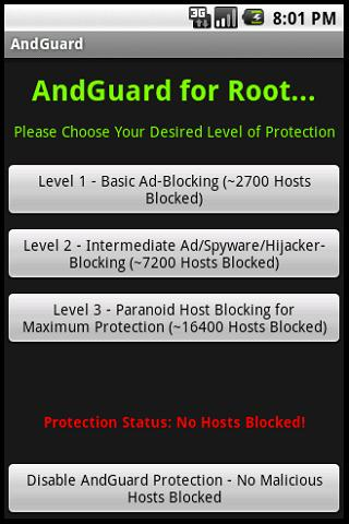 andguard-for-root for android screenshot