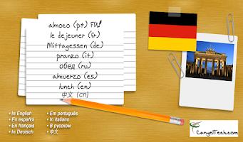 Screenshot of German Flashcards