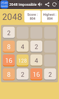 Screenshot of 2048 Impossible