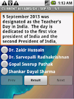 Screenshot of Sep 13: GK Current Affair News