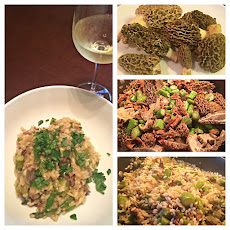 Morel Mushroom and Asparagus Risotto