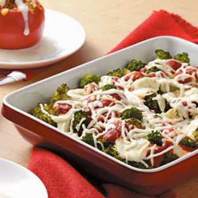 Italian Broccoli Cheese Bake