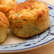 Cottage Cheese and Egg Breakfast Muffins with Bacon and Green Onions