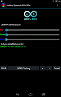 Screenshot of Arduino Bluetooth RGB LEDs