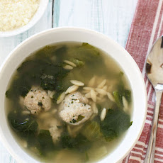 Escarole Soup with Turkey Meatballs