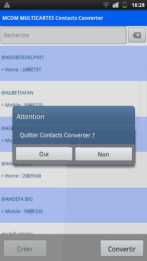 Contacts Converter