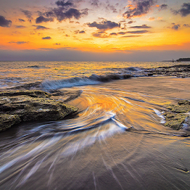 thin curves by Budi Astawa - Landscapes Beaches ( bali, cupel, sunset, twilight, jembrana, beach, negara )