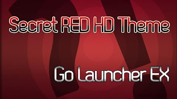 Screenshot of Theme SecretRED HD Go Launcher