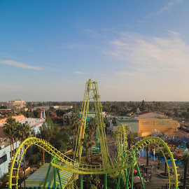Boomerang by Tim Davies - City,  Street & Park  Amusement Parks ( scary, ride, thrill, rollercoaster, boomerang, knotts )