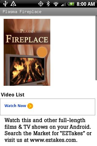 Plasma Fireplace Video