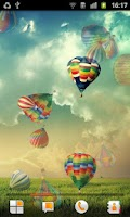 Screenshot of Hot Air Balloon Live Wallpaper