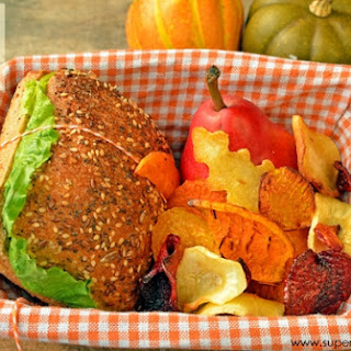 Root Veggie Chips- Healthy Lunch Idea for Kids