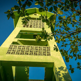 Lookout Tower  by Nick Foster - Buildings & Architecture Public & Historical ( tower, watching, lookout, fish, beautiful, sea, beach, people, island )