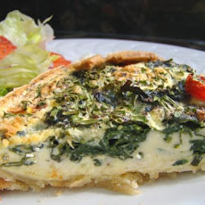 Spinach, Tomato and Feta Quiche