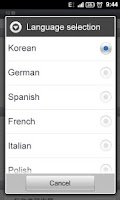 Screenshot of GO SMS Pro Dutch language