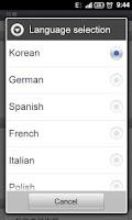 Screenshot of GO SMS Pro Dutch language