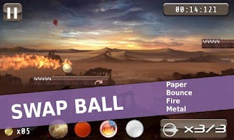 Screenshot of Paper Ball (Free): Roll n Jump
