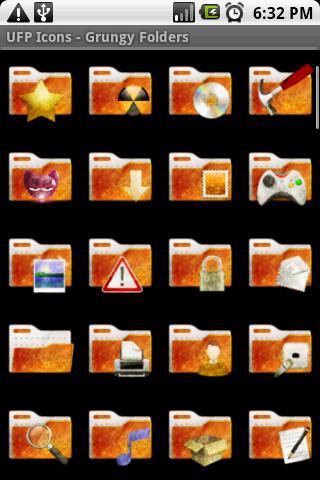 【免費個人化App】UFP Icons - Grungy Folders-APP點子