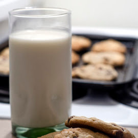 Milk and Cookies by Kelly Elle - Food & Drink Cooking & Baking ( food, milk, yummy, milk and cookies, cookies )