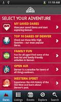 Screenshot of Official Visitor App to Denver