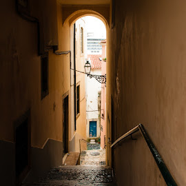 Alfama by Julio Santos - City,  Street & Park  Historic Districts ( travessa, arcos, escadinhas, portugal, lisboa )