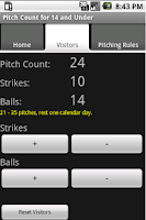 Screenshot of Baseball Pitch Counter 8 to 14