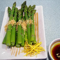 Hot or Cold Sesame Asparagus