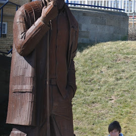 Fishermen, Filey, Yorkshire by Mark Butterworth - Buildings & Architecture Statues & Monuments