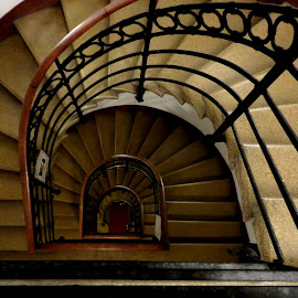 6 Flights Up by Jennifer Wheatley-Wolf - Buildings & Architecture Architectural Detail ( abstract, stairs, venice, steps, jennifer wheatley wolf, italy )