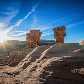 by Brent Clark - Landscapes Deserts ( sky, desert, sandstone, hoo doo, landscape, sun )