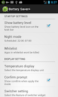 Screenshot of Battery Saver +
