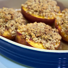 Roasted-Peach Streusel