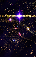 Screenshot of 3D Stars Journey -Universe LWP