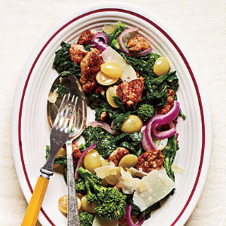 Sautéed Sausage and Grapes with Broccoli Rabe