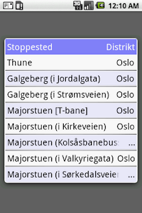 Pendlerkompis for Ruter - screenshot