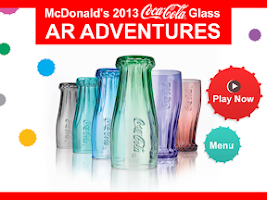 Screenshot of McDonald's Coca-Cola® Glass AR