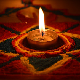 Colors of India by Madhumita Das - Abstract Light Painting ( candle, color, india, rangoli, light,  )