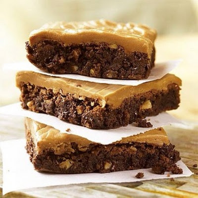 Double Chocolate Brownies With Caramel Frosting