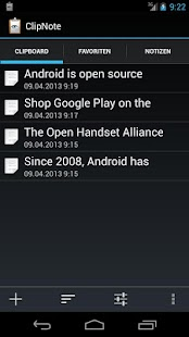ClipNote Clipboard-Manager Screenshot