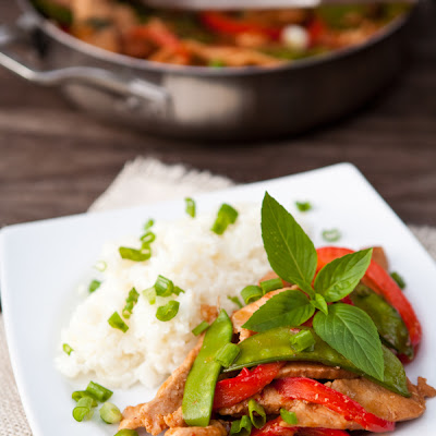 Thai Basil Pork Stir Fry