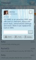 Screenshot of GO SMS Pro Iceblue theme