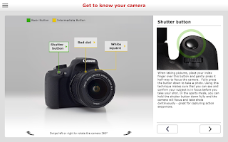 Screenshot of Canon EOS 1200D Companion
