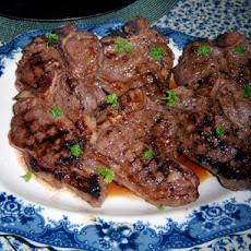Grilled Lamb Chops in Pomegranate Marinated
