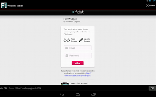 Screenshot of FitIt for FitBit®