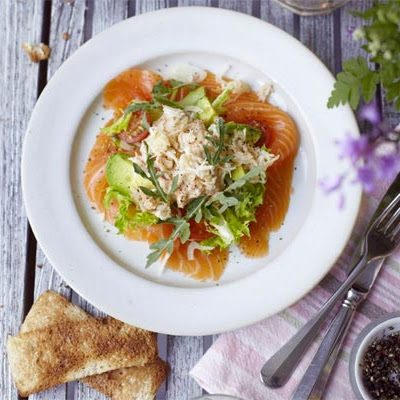 Smoked Salmon Salad With Crab Dressing
