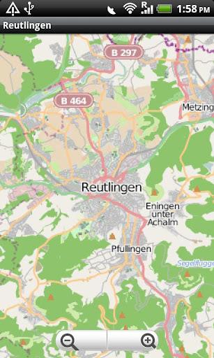 Reutlingen Street Map