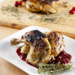 Cornish Game Hen & Cranberry Sauce