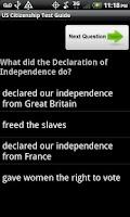 Screenshot of US Citizenship Test Guide 2013