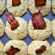 Corn Muffins with Candied Bacon